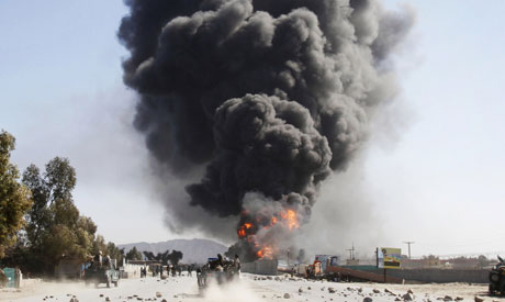 Handheld photo from the February 2012 attacks (via the AP)